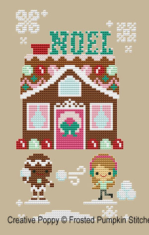 Gingerbread lane -  Noël House cross stitch pattern by The Frosted Pumpkin