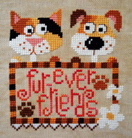 Fur-ever Friends cross stitch pattern by Barbara Ana Designs