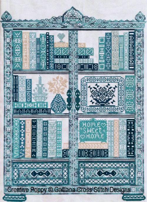 The Bookcase cross stitch pattern by Galliana Cross Stitch
