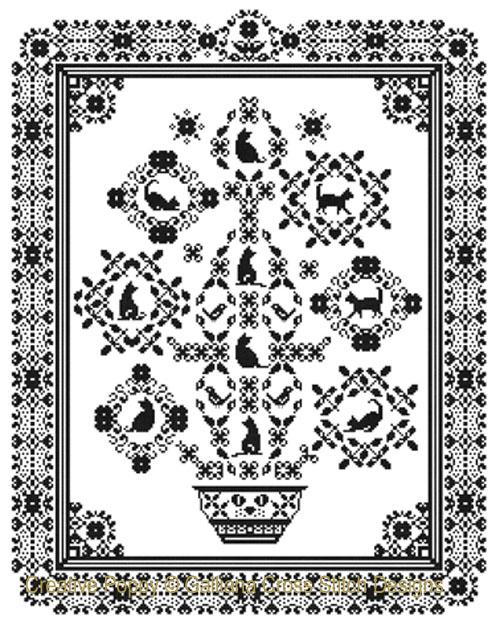 Purrfect  Friends cross stitch pattern by Galliana