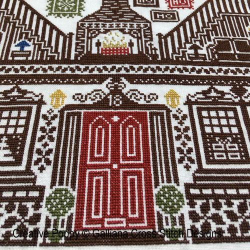 House of Christmas cross stitch pattern by Galliana