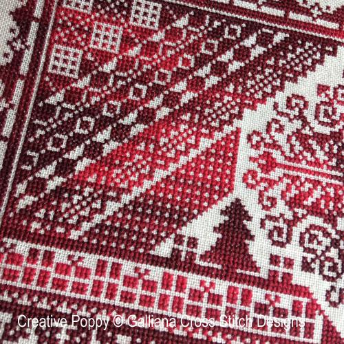 The Christmas Sampler cross stitch pattern by Galliana, zoom 1