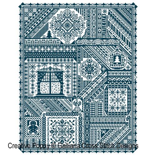 The Christmas Sampler cross stitch pattern by Galliana