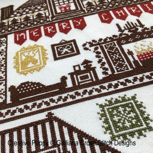 House of Christmas cross stitch pattern by Galliana, zoom 1