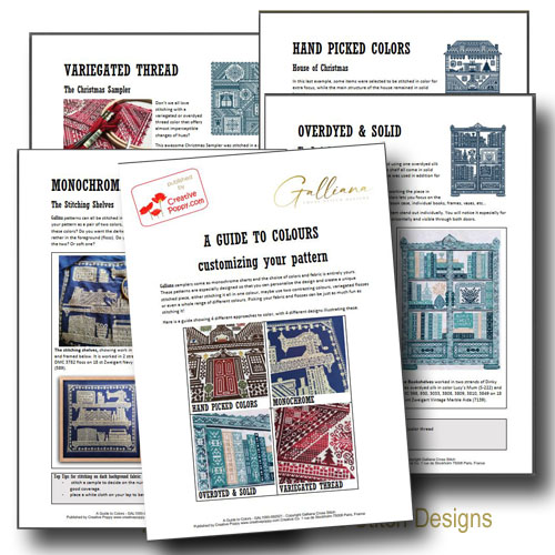 A Guide to Colors cross stitch pattern by Galliana