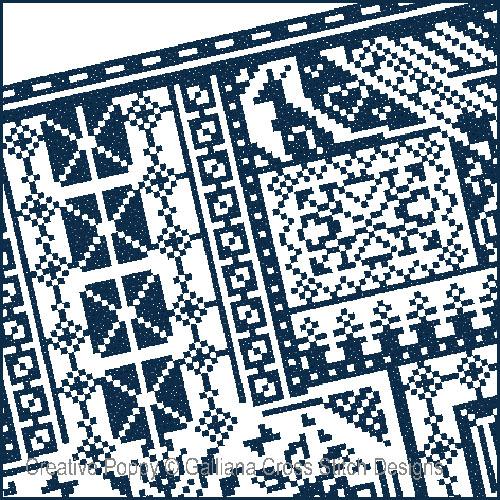 The Galliana Sampler cross stitch pattern by Galliana, zoom 1