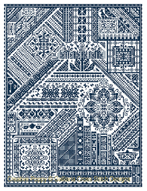 The Galliana Sampler cross stitch pattern by Galliana