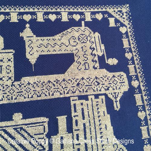 The Stitching Shelves cross stitch pattern by Galliana