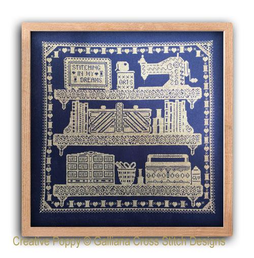 The Stitching Shelves cross stitch pattern by Galliana, zoom 1
