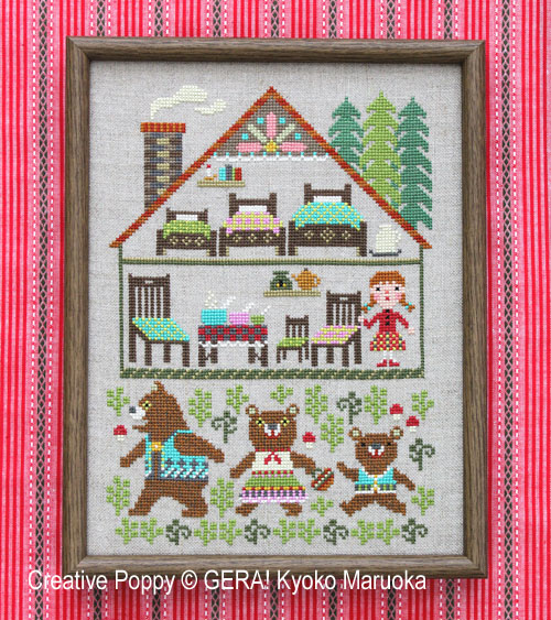 The Three Bears cross stitch pattern by GERA! by Kyoko Maruoka