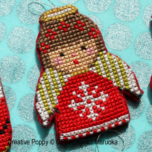 Mini Christmas Ornaments cross stitch pattern by GERA! Kyoko Maruoka