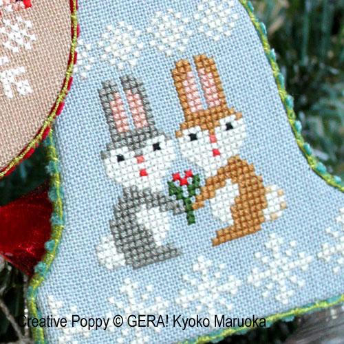 Christmas Ornaments cross stitch pattern by GERA! Kyoko Maruoka, zoom 1