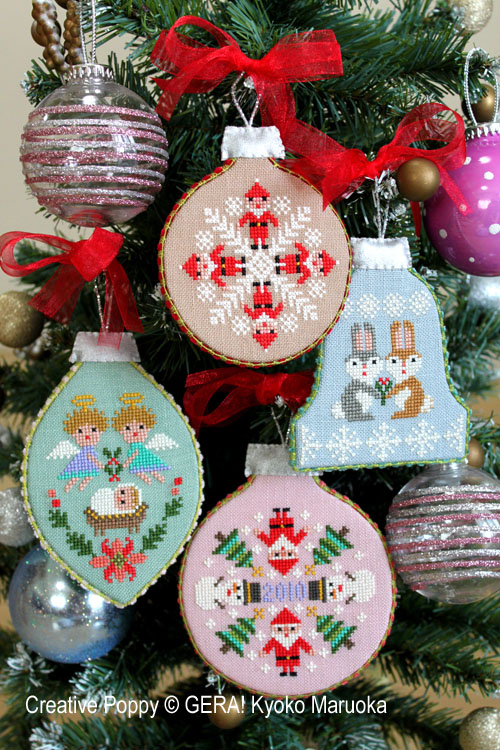 Christmas Ornaments cross stitch pattern by GERA! Kyoko Maruoka