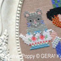 The (sleepy) Dormouse cross stitch pattern by GERA! by Kyoko Maruoka, zoom 1