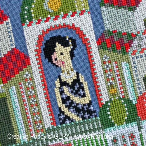 Anna Karenina cross stitch pattern by GERA! Kyoko Maruoka