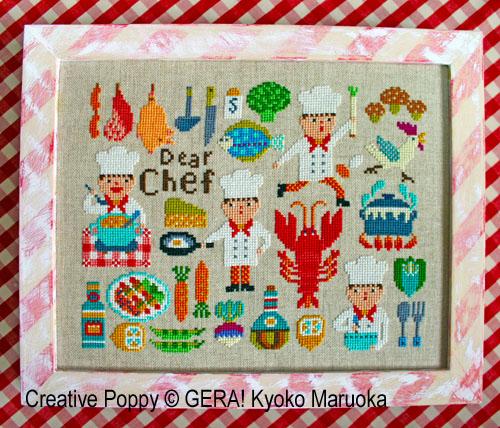 Dear Chef cross stitch pattern by GERA! Kyoko Maruoka