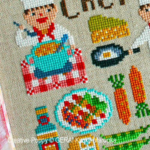 Dear Chef cross stitch pattern by GERA! Kyoko Maruoka
