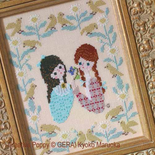 Anne & Diana (The Friendship) cross stitch pattern by GERA! Kyoko Maruoka