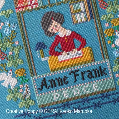 A tribute to Anne Frank cross stitch pattern by GERA! Kyoko Maruoka