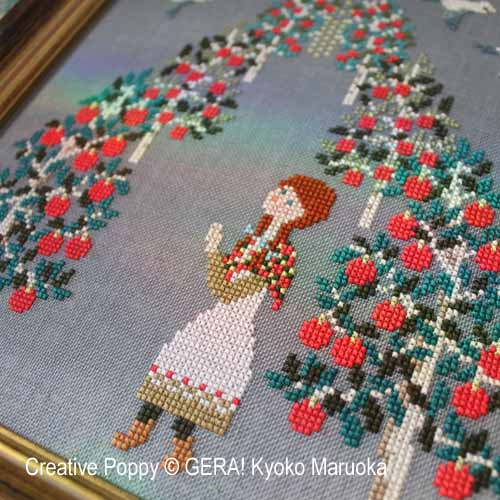 Anne (The Prayer) cross stitch pattern by GERA! Kyoko Maruoka