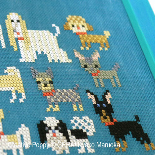 15 Dog Breeds - series 2 cross stitch pattern by GERA! Kyoko Maruoka, zoom 1