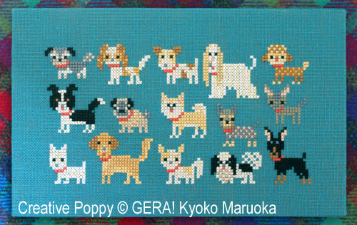 15 Dog Breeds - series 2 cross stitch pattern by GERA! Kyoko Maruoka
