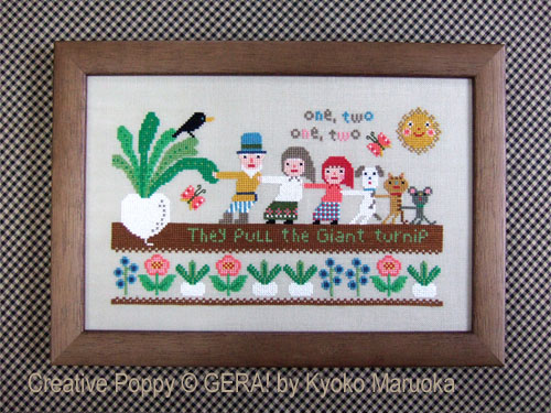 The Giant Turnip cross stitch pattern by GERA! by Kyoko Maruoka