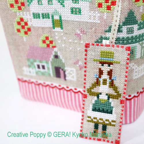Green Gables cross stitch pattern by GERA! Kyoko Maruoka