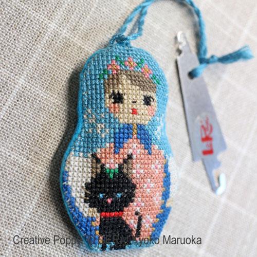 Matryoshka II - Needlework Set of 5 cross stitch pattern by GERA! Kyoko Maruoka, zoom 1