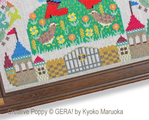Gera! by Kyoko Maruoka - Puss in Boots zoom 5 (cross stitch chart)