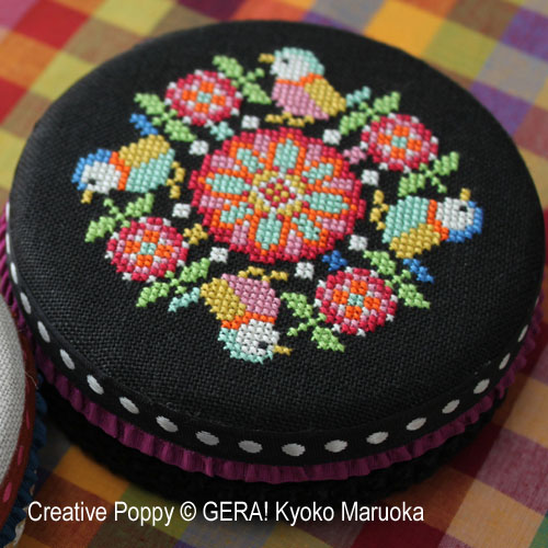 Round tin cans - 1 cross stitch pattern by GERA! Kyoko Maruoka, zoom 1