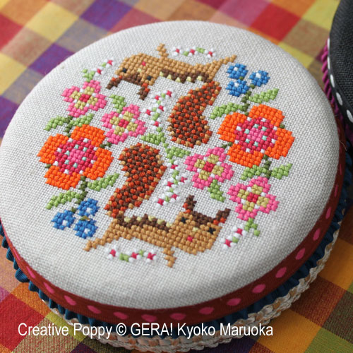 Round tin cans - 1 cross stitch pattern by GERA! Kyoko Maruoka