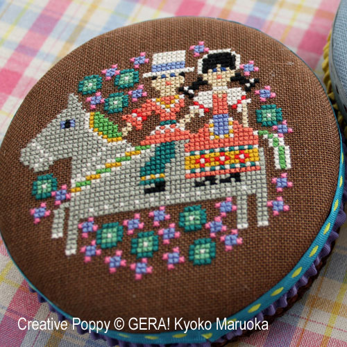 Round tin cans - 2 cross stitch pattern by GERA! Kyoko Maruoka, zoom 1