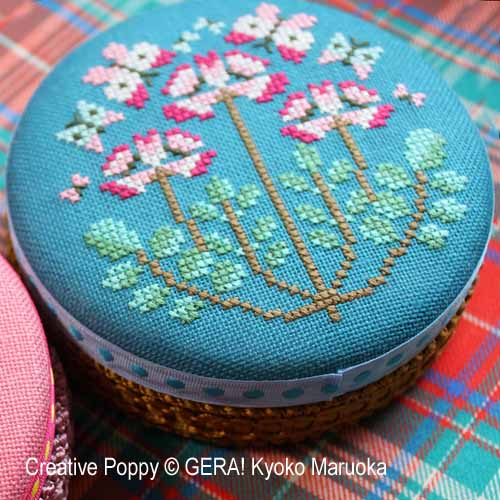 Round tin cans - 3 cross stitch pattern by GERA! Kyoko Maruoka, zoom 1