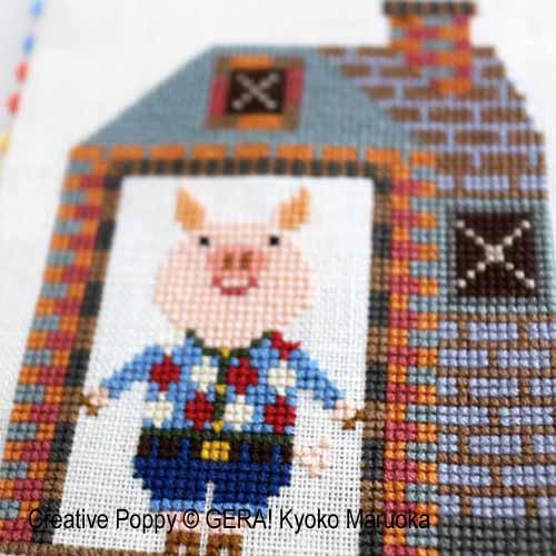 Gera! by Kyoko Maruoka - Three Little Pigs (cross stitch chart)