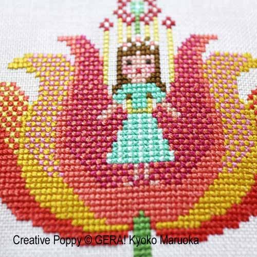 Gera! by Kyoko Maruoka - Thumbelina zoom 1 (cross stitch chart)