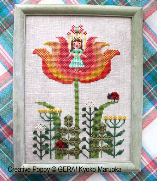 Thumbelina cross stitch pattern by GERA! Kyoko Maruoka