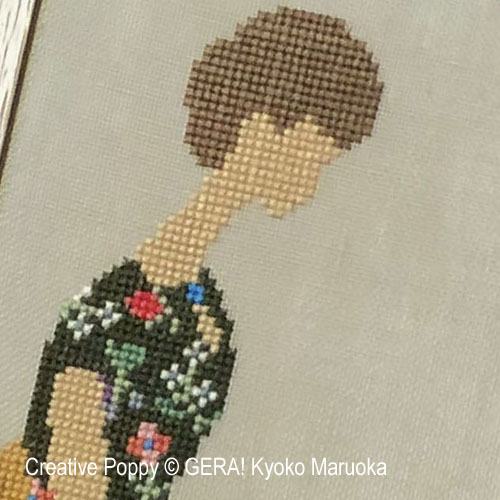 Woman - 1 cross stitch pattern by GERA! Kyoko Maruoka