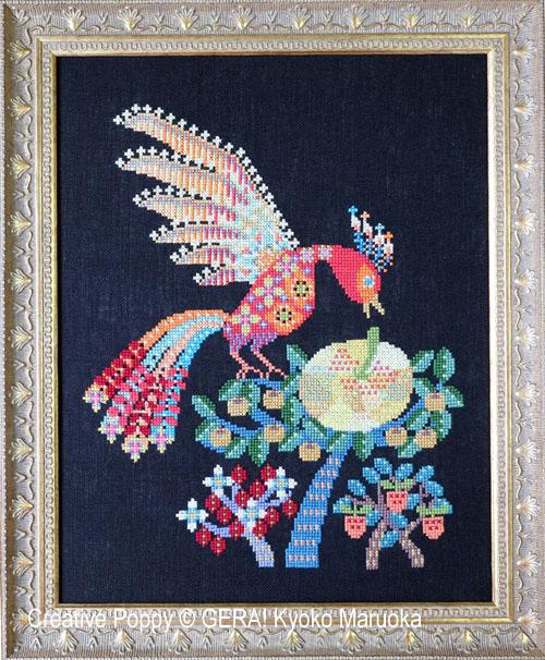 Firebird cross stitch pattern by GERA! Kyoko Maruoka