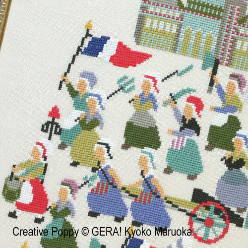 French Revoluion (1789) cross stitch pattern by GERA! Kyoko Maruoka, zoom 1