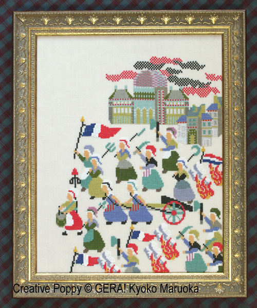 French Revoluion (1789) cross stitch pattern by GERA! Kyoko Maruoka