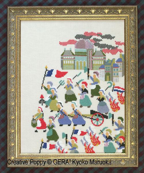 French Revolution (1789) cross stitch pattern by GERA! Kyoko Maruoka