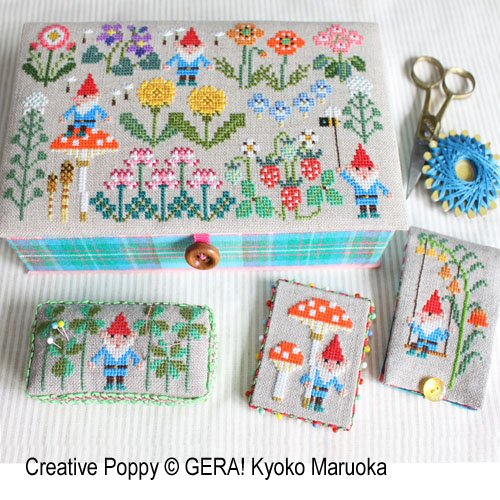 GERA! by Kyoko Maruoka - Gnomes In Springfield (cross stitch chart)