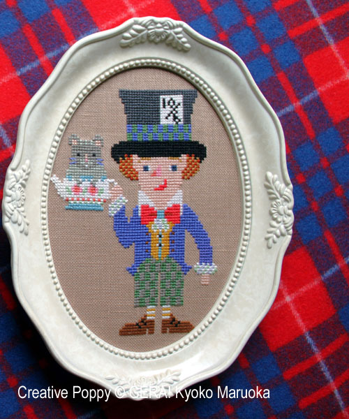The (mad) Hatter cross stitch pattern by GERA! by Kyoko Maruoka, zoom 1