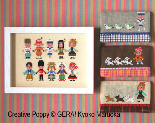 International kids II cross stitch pattern by GERA! by Kyoko Maruoka