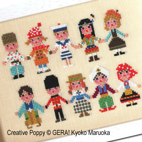 International kids II cross stitch pattern by GERA! by Kyoko Maruoka, zoom 1
