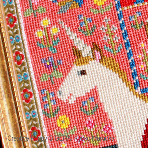 The lady and the Unicorn cross stitch pattern by GERA! Kyoko Maruoka, zoom1