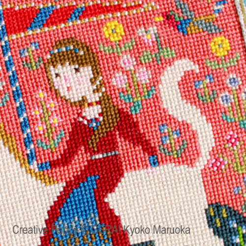 The lady and the Unicorn cross stitch pattern by GERA! Kyoko Maruoka, zoom 1