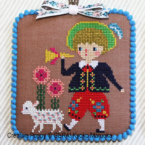 Little Bo Peep cross stitch pattern by GERA! Kyoko Maruoka
