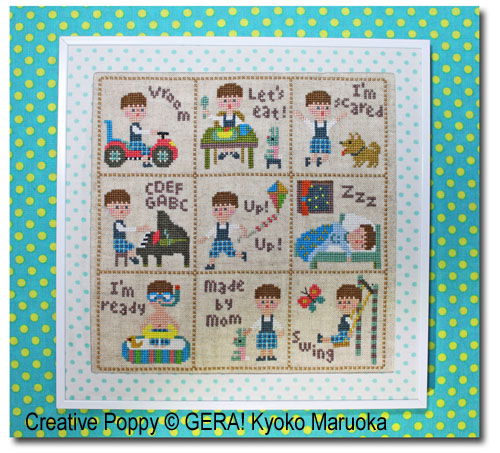 Little Peter cross stitch pattern by GERA! Kyoko Maruoka